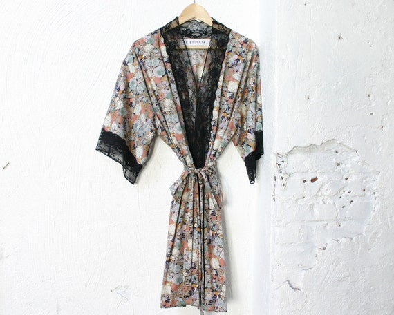 Wildflowers Cotton and Lace Robe