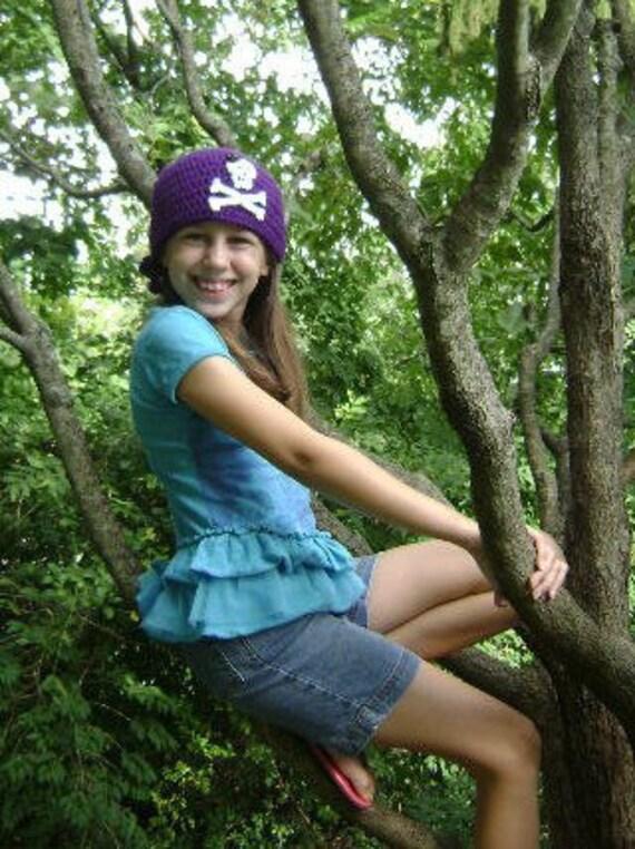 purple pirate beanie