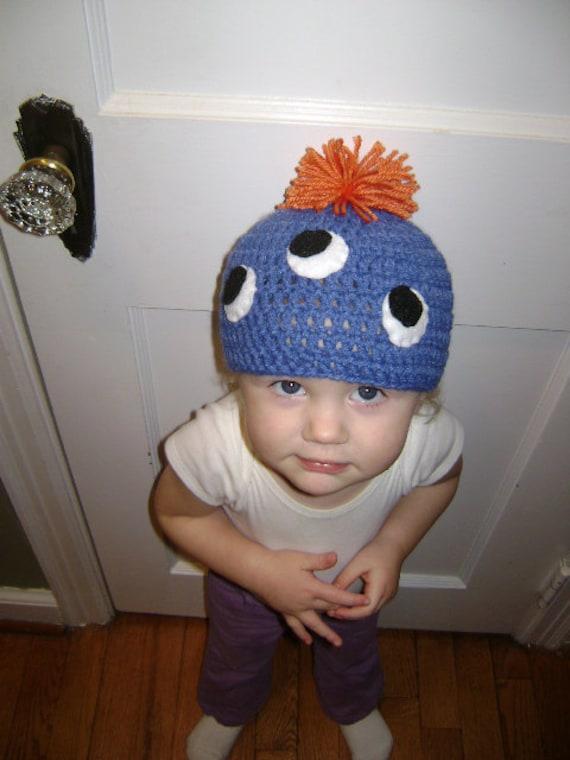 blue monster beanie
