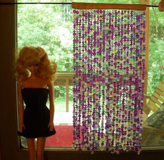 1:6 scale  barbie bead curtain purple