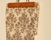 Vintage Thick Woven Cotton Ivory Coloured Fabric Material
