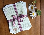 Set of 4 Art Postcards: How to Make Your Own Jam Jar Posy