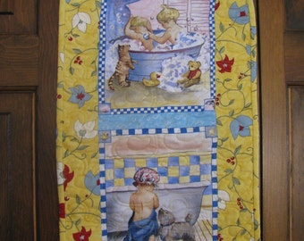 "Quilted Wall Hanging ""Bath Time 1"""
