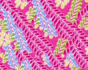 "Studio E ""Pink Leaves"" Fabric 1 Yard"