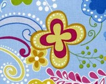 "Studio E ""Blue Multi Floral"" Fabric 1 Yard"