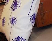 Purple Dandelion Pillow