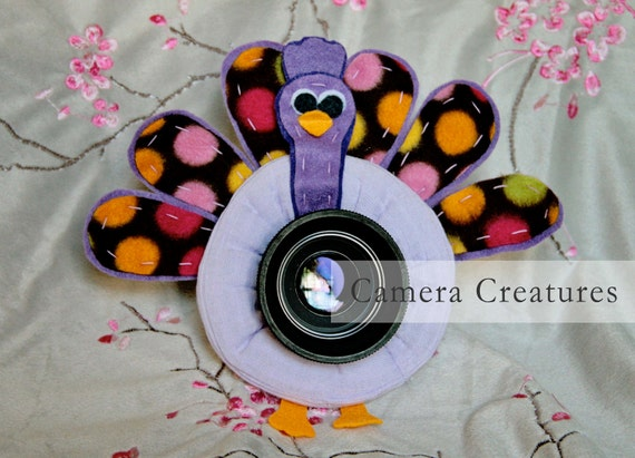 Camera Creatures Polka Dotted Peacock Lens Prop with Squeaker