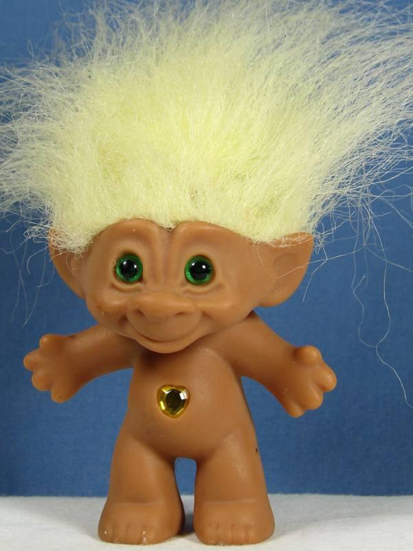 Ace Noveltycompany Troll Doll 3 1 2 Tall Yellow Hair