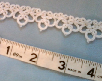 White Lace Edging, Hand Tatted