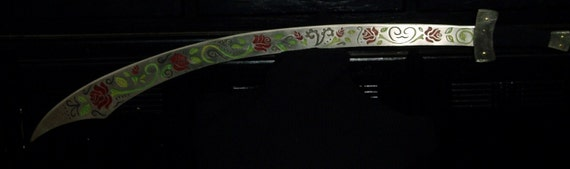 MelusinaX's Silver Belly Dance Sword with Red Roses