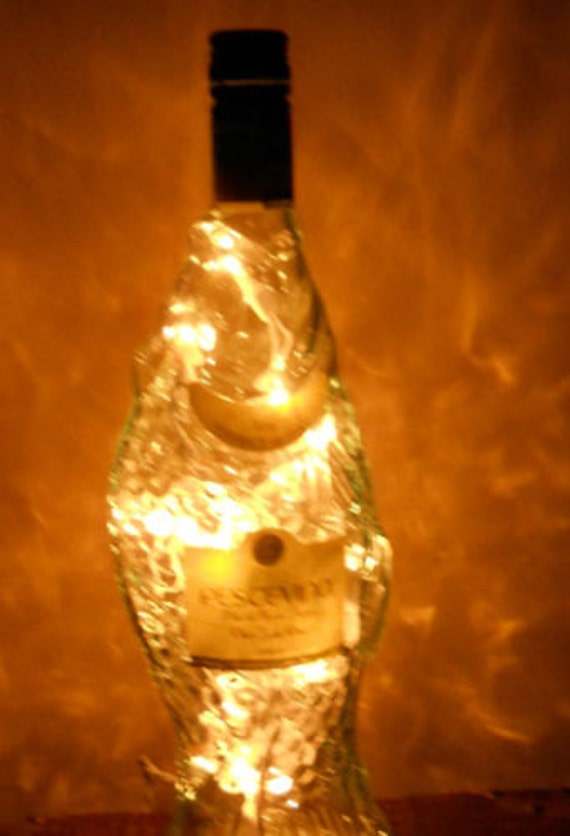 Lighted italian fish wine bottle home kitchen bar decor for Fish wine bottle