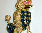 rhinestone poodle pin brooch   SALE NOW 13