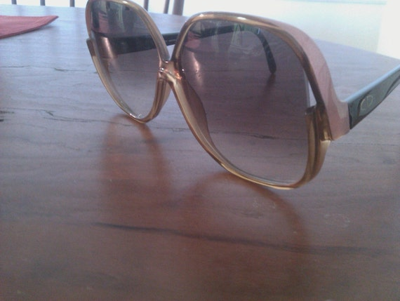 RESERVED for mvchavez vintage Christian Dior sunglasses Hollywood glam brown and black CD logo made in Germany