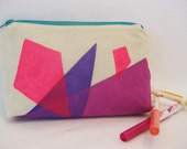 Neon Jewel Pencil Case and Zipper Pouch