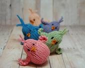 Birds - Chicks - Spring Chicks - Easter - Easter Basket - Waldorf - Knit - Toy - Plush - Natural Fibers - Pastel