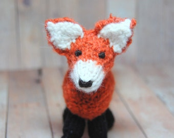Knitting Pattern Fox Toy Digital Download PDF Waldorf Knit Fox Pattern DIY