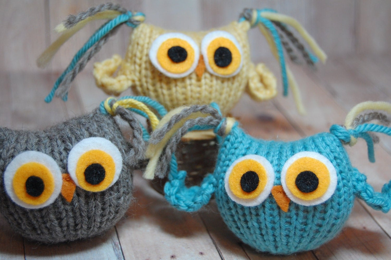 Amigurumi Knit Owl Pattern : Knitting Pattern Owls Tufty Owl Amigurumi Waldorf Bird Toy