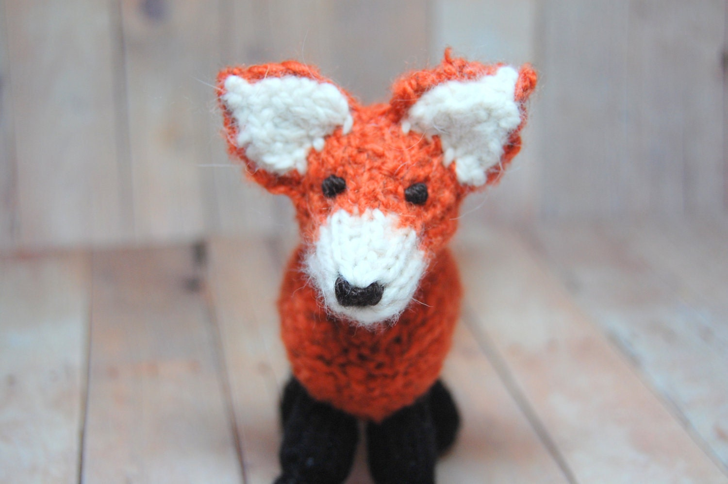 Boot Leg Warmers Knitting Pattern : Knitting Pattern Fox Toy Digital Download PDF Waldorf Knit Fox
