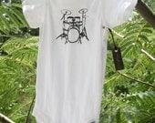 Drummer Baby Screen Tee or Onesie