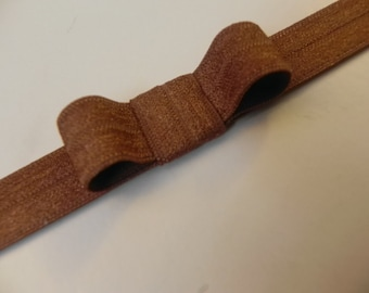 Brown Headband. Soft Elastic Baby Bow Headband. FOE.  Foldover elastic headband. Infant Baby Toddler Headband.  Baby Headband. Baby GIFT.