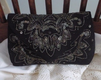 Vintage Beaded Evening Bag, with Free Shipping