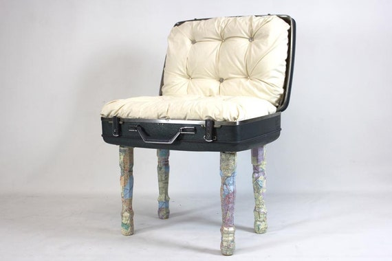 SALE Suitcase Chair Mapped Out
