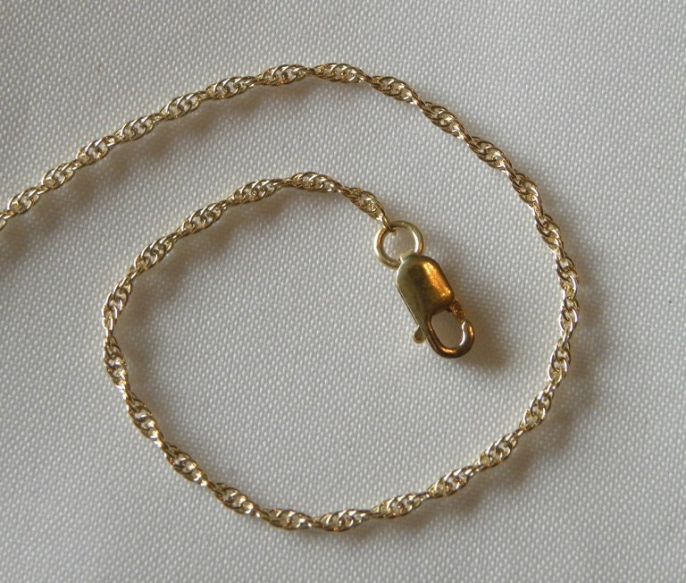 14kt Gold Filled 18 Inch Rope Necklace Chain