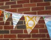 lavender pennant banner - 7ft