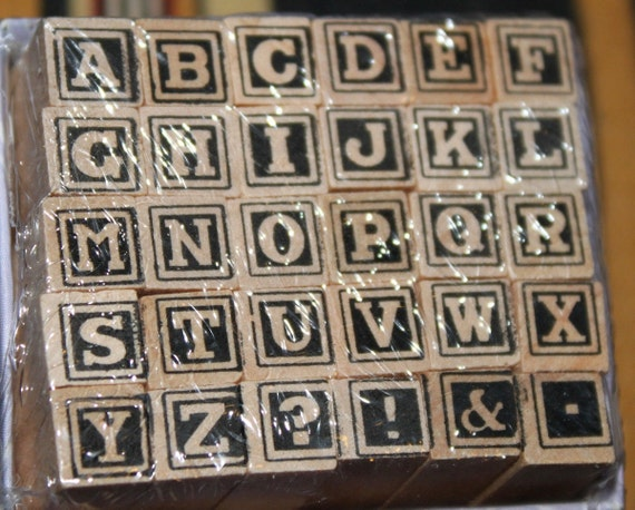BRAND NEW Studio G  wooden Alphabet stamp set (30 stamps)