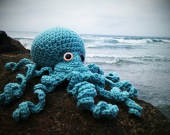 Crocheted Amigurumi Octopus- large