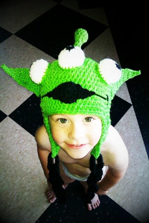 Crocheted Toy Story Alien Hat Ooooooooooo By CreatedWithaHook