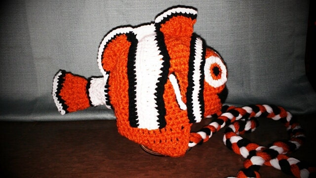 Crocheted Nemo hat