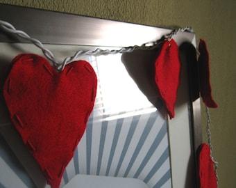 Felt Heart String Lights/Night light