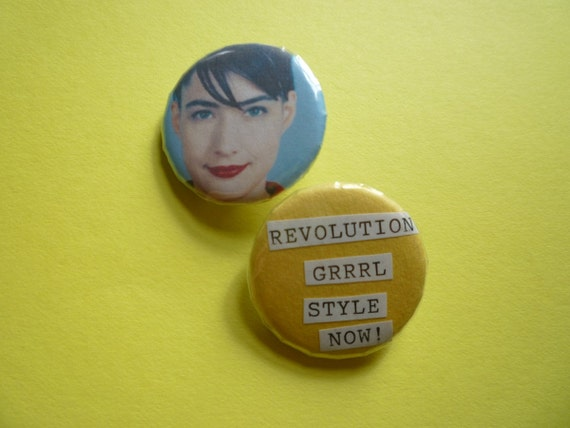 Bikini Kill Kathleen Hanna Pin/Button Set