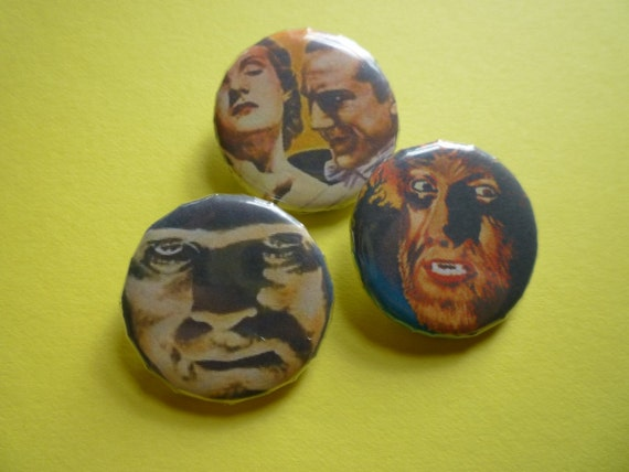 Universal Monsters Pin/Button Set