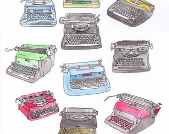 Vintage Typewriter Illustration
