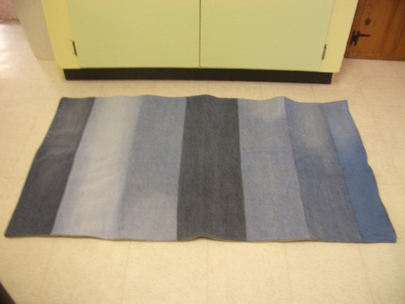 Denim Rug Narrow Stripe