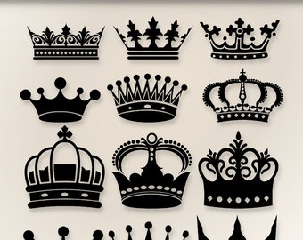 Crown Clip Art  - Digital clipart crowns for invitations, scrapbooking-  PNG and jpg - Clipart Designs INSTANT DOWNLOAD 226