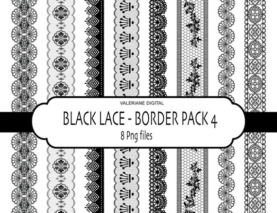 Lace digital clipart borders -Digital clip art lace Border - INSTANT DOWNLOAD Pack 314