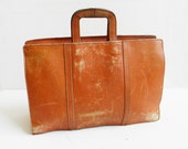 Vintage Large Leather Briefcase Tote