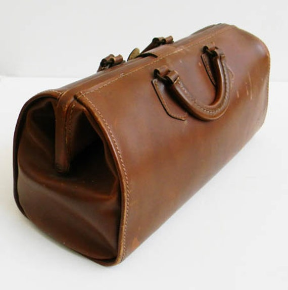 Vintage Leather Cowhide Doctors Bag