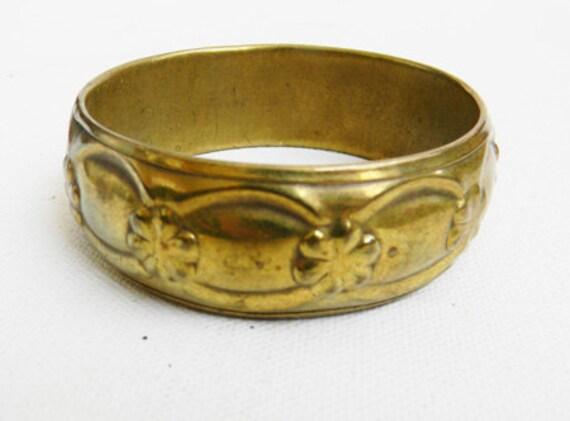 Vintage Brass Bangle Bracelet