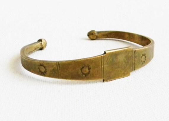 Vintage Heavy Brass Cuff Arm Band
