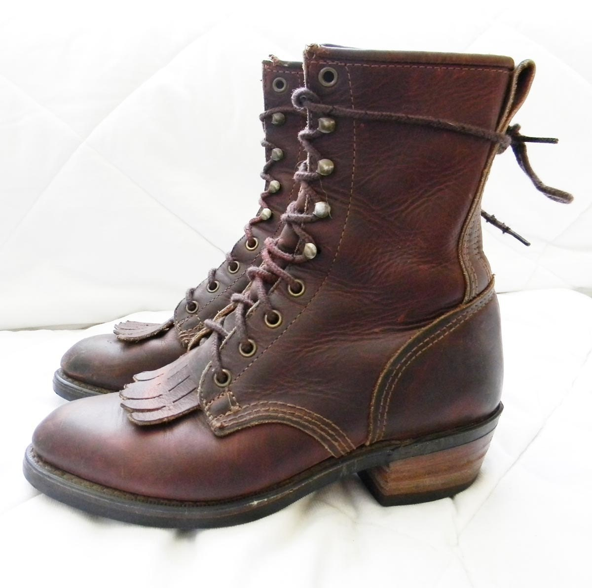 leather boots packer boots lacer roper 8