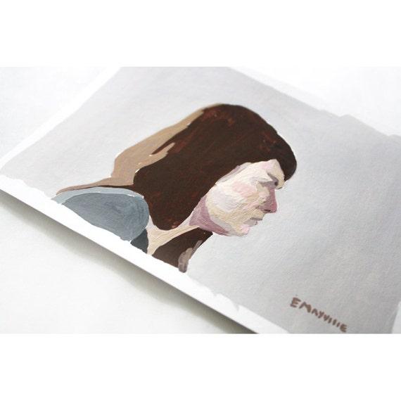 Self Portrait Profile - original painting