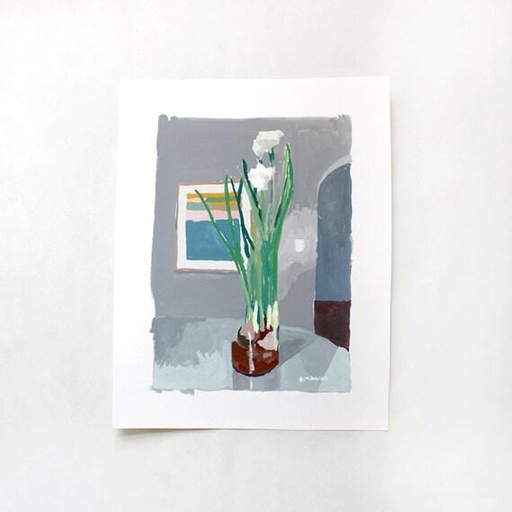 Paperwhites & Diebenkorn - original painting