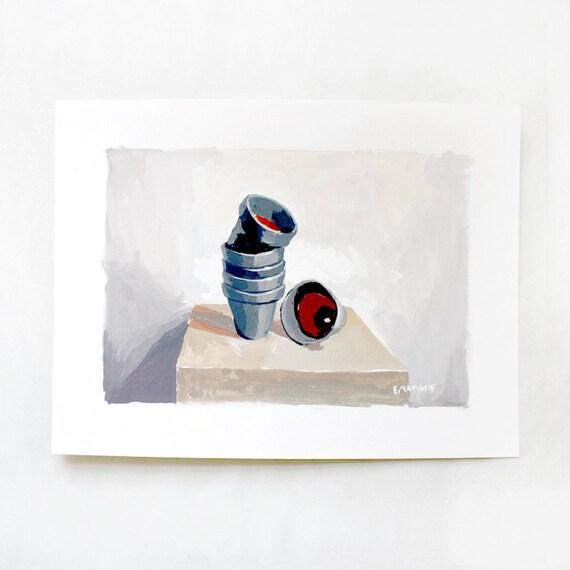 SALE! Gray Pots - original art