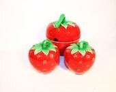 Sugar Bowl Salt Pepper Shaker Set Strawberry