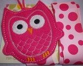 Hot Pink  OWL Hair Bow Clip Clippie Holder Organizer Keeper