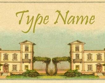 Villa Place Card Template